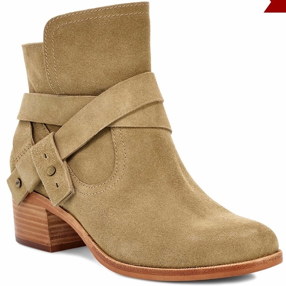 35203487c78 Ugg Antelope Elora Suede Ankle Boot NWT